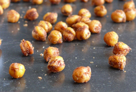 Crispy Cinnamon Chile Chickpeas the perfect nut free snack